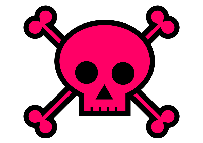pink skull png