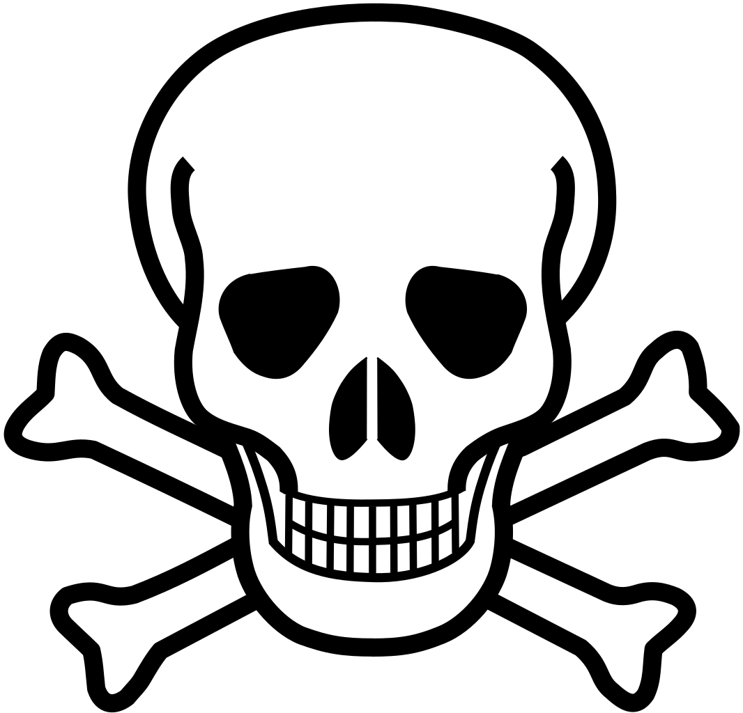 Crossbones clipart toxin. File skull and svg