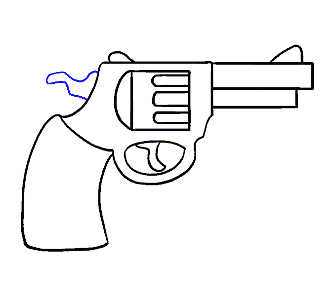 Crossed black and white handgun png. How to draw a