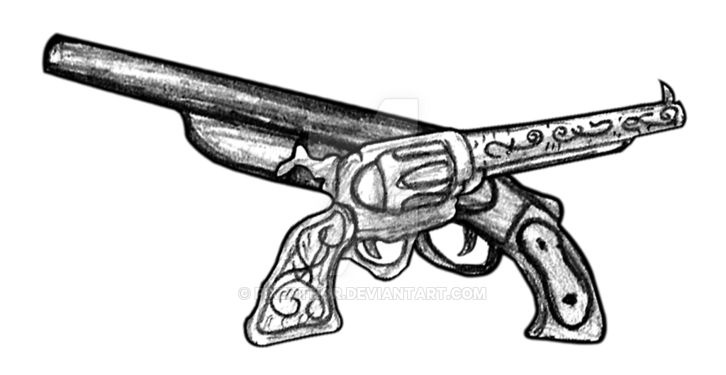 Weapon drawing thor. Trigger happy crossed guns