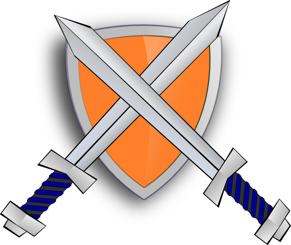 Crossed swords and shield png. With sword cross clip