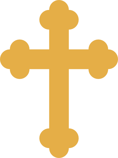 Crosses vector byzantine cross. Orthodox pictures gold clip