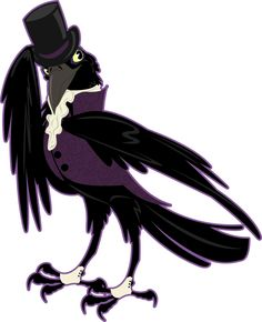 Crow clipart victorian. Altered clip art waiter