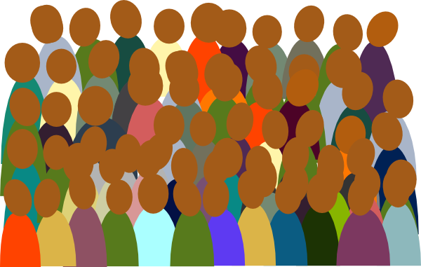 Small clip art at. Crowd clipart image library stock