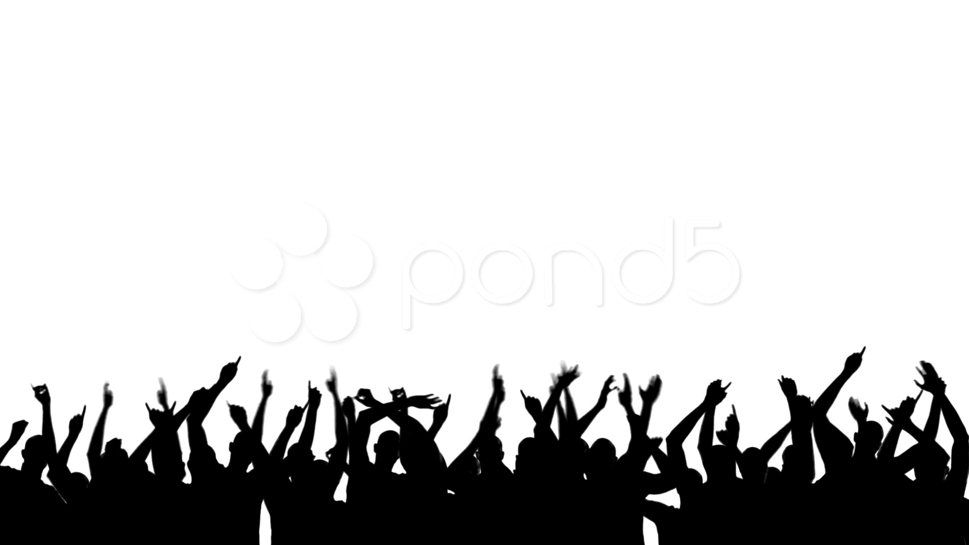 Crowd clipart. Silhouette