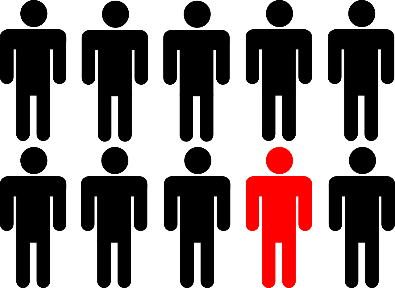 Leader vector crowd. Group clipart clip arts