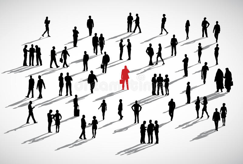Crowd clipart individual. Businessman standing business concept banner freeuse