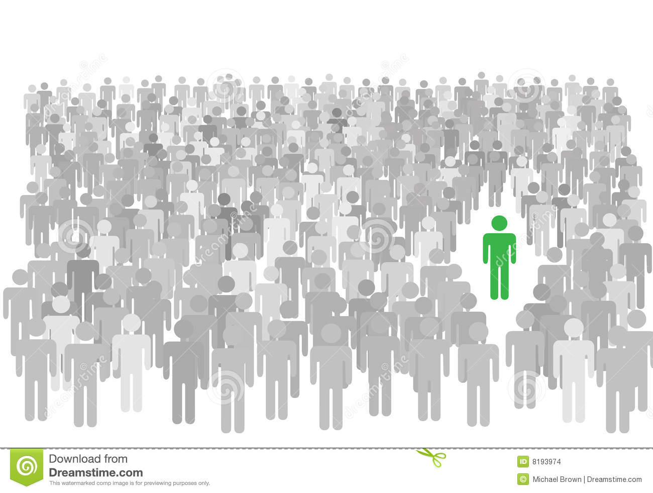 In a . Crowd clipart individual image free download
