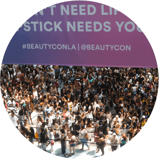 Beautycon los angeles goers. Crowd clipart music festival crowd png