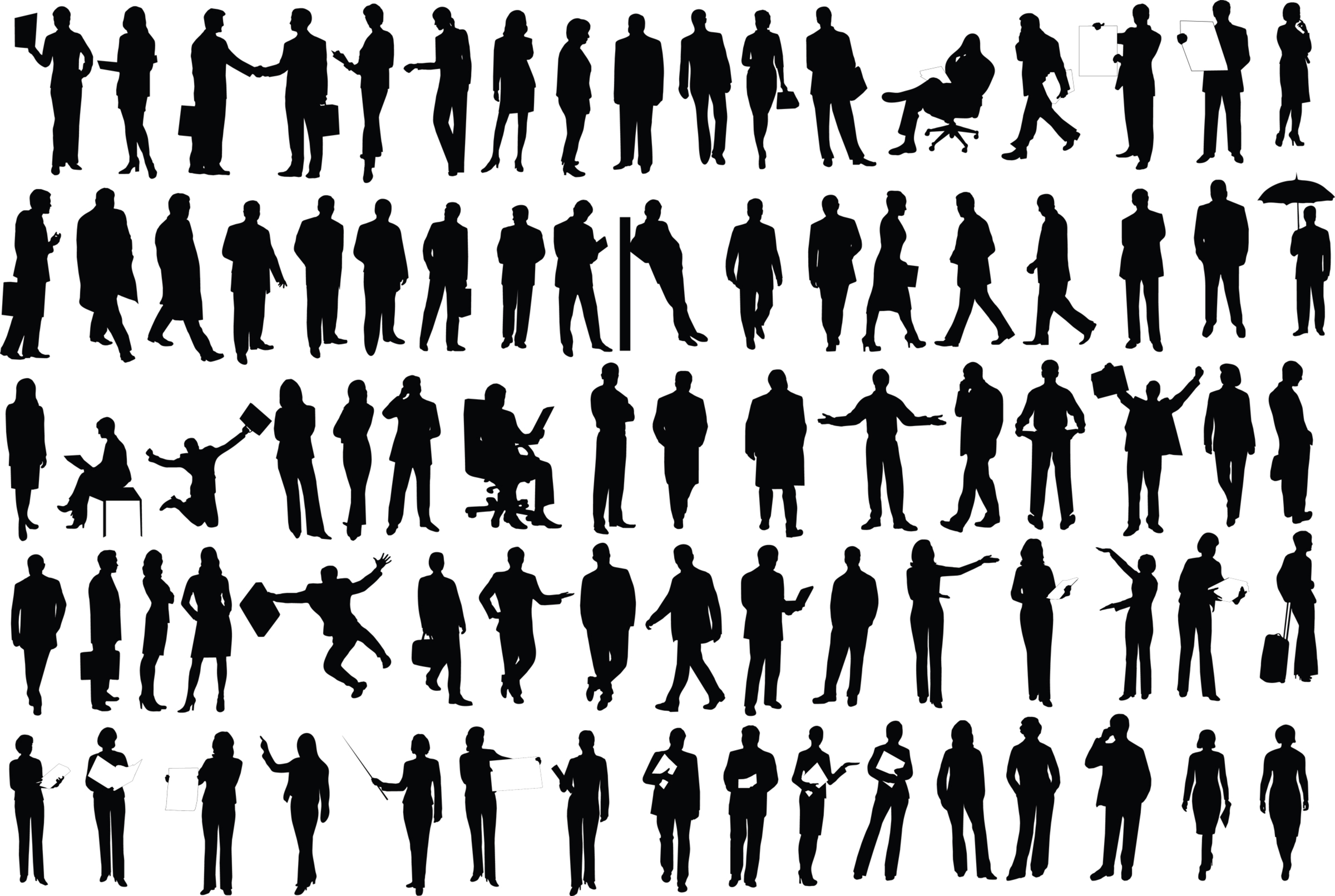 Crowd clipart shadow. Business group of people