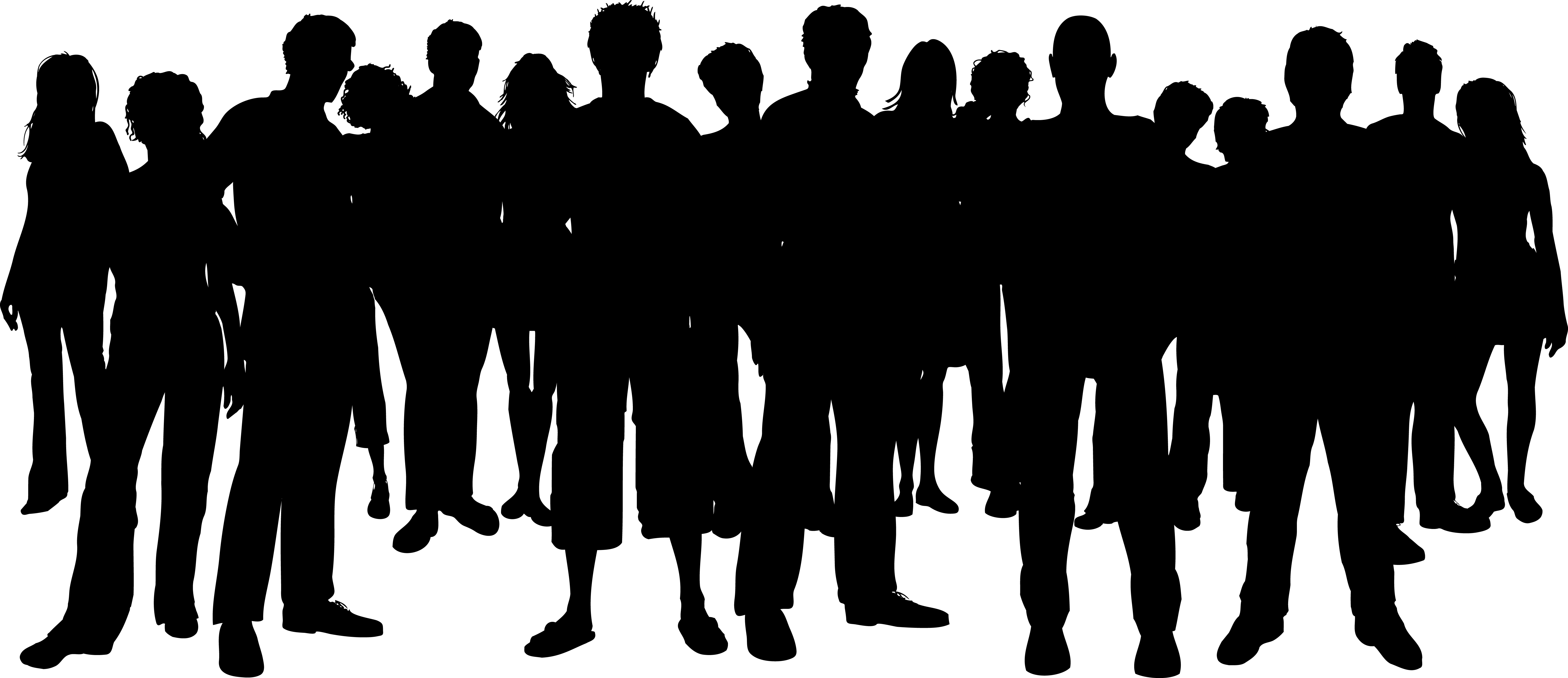 Best of people collection. Crowd clipart clip art black and white download