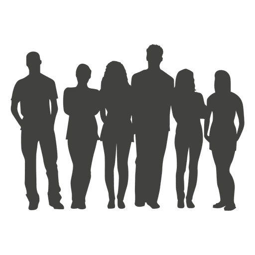 Student silhouette png. Crowd of people at