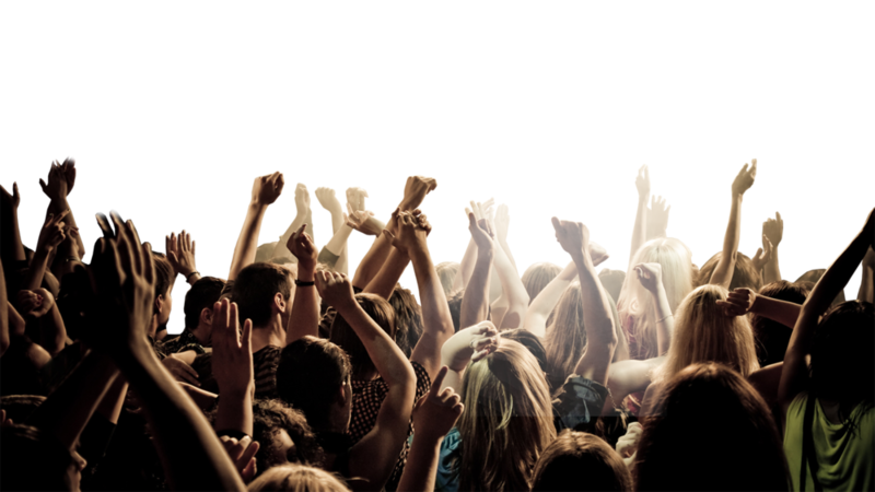Crowd transparent background. Download free png image