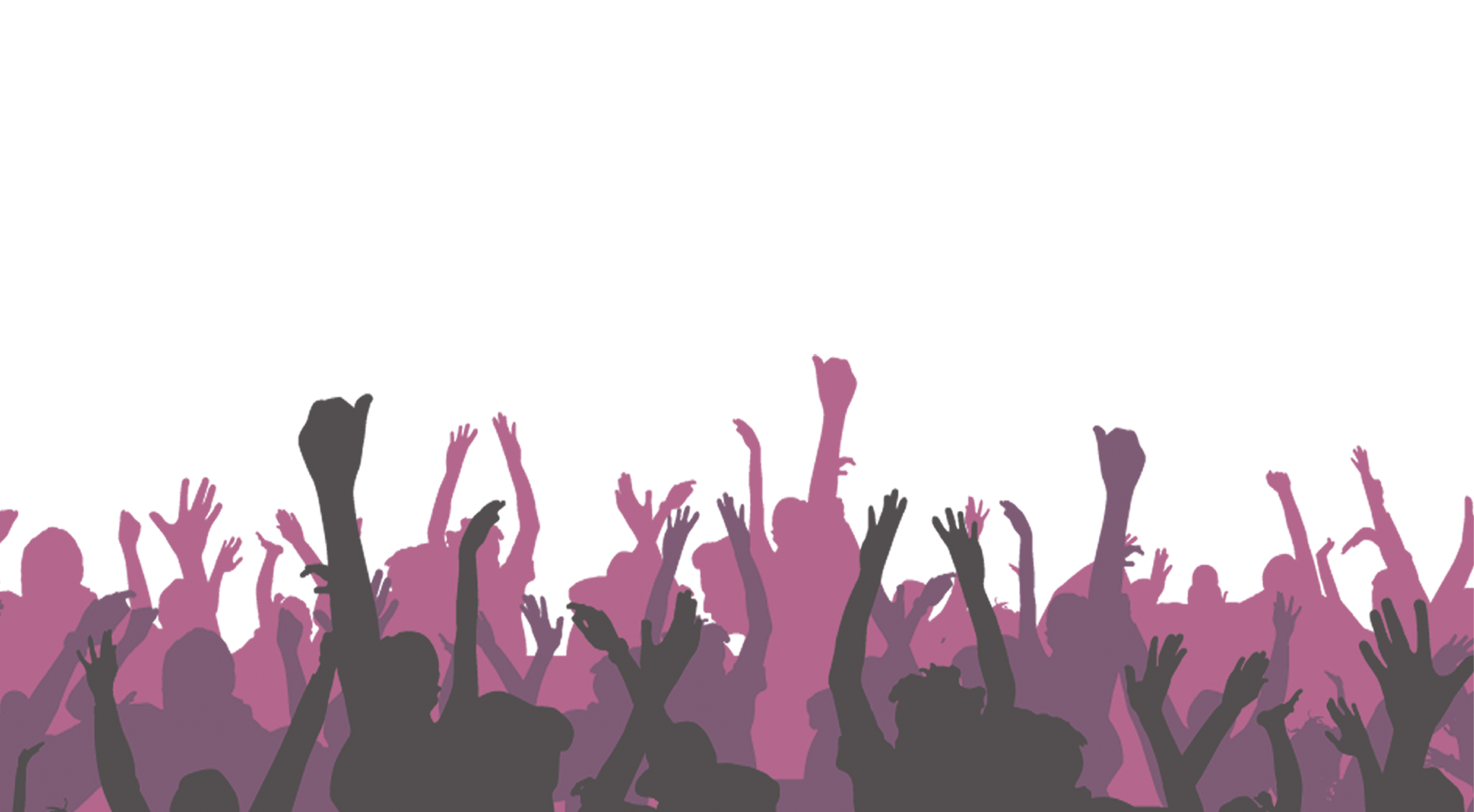 Crowd png. Paper banner poster bar