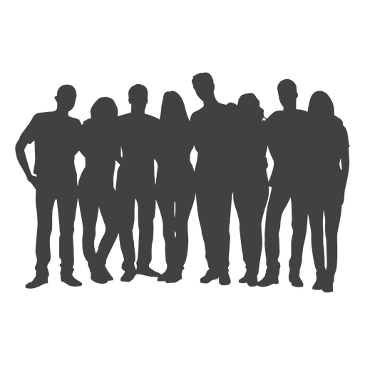 People silhouette transparent png. Group vector graphic transparent download