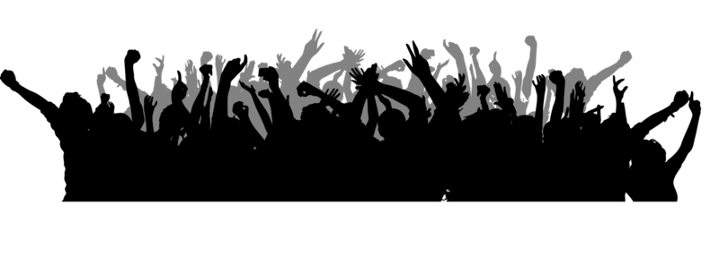 Crowd transparent silhouette png. Download free image with
