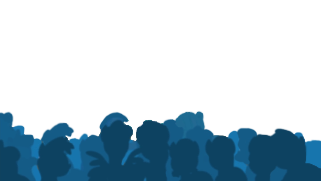 Crowd transparent background. Free audience by sugarsketch