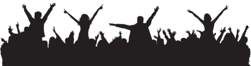 Crowd transparent party. People silhouette png free