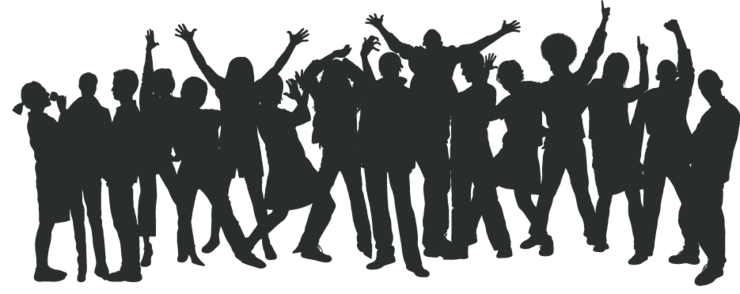 Crowd transparent party. Download free png dlpng
