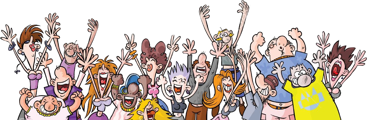 Crowd transparent party. Download hd cartoon people