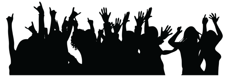 Crowd transparent party. Download free png photo
