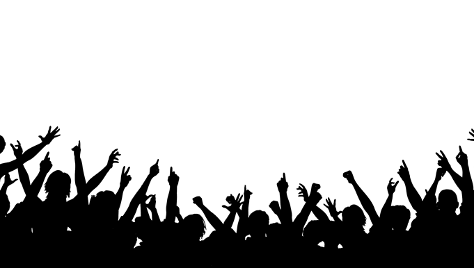 Crowd transparent silhouette png. Cheering stock huge
