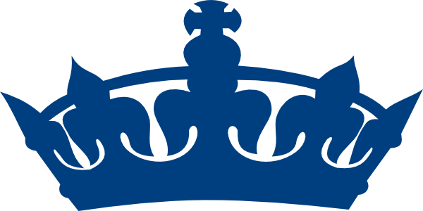 Blue king clipart . Crown clip crwon vector free library