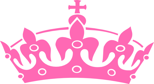 Pink drawing crown. Hot clip art clipart