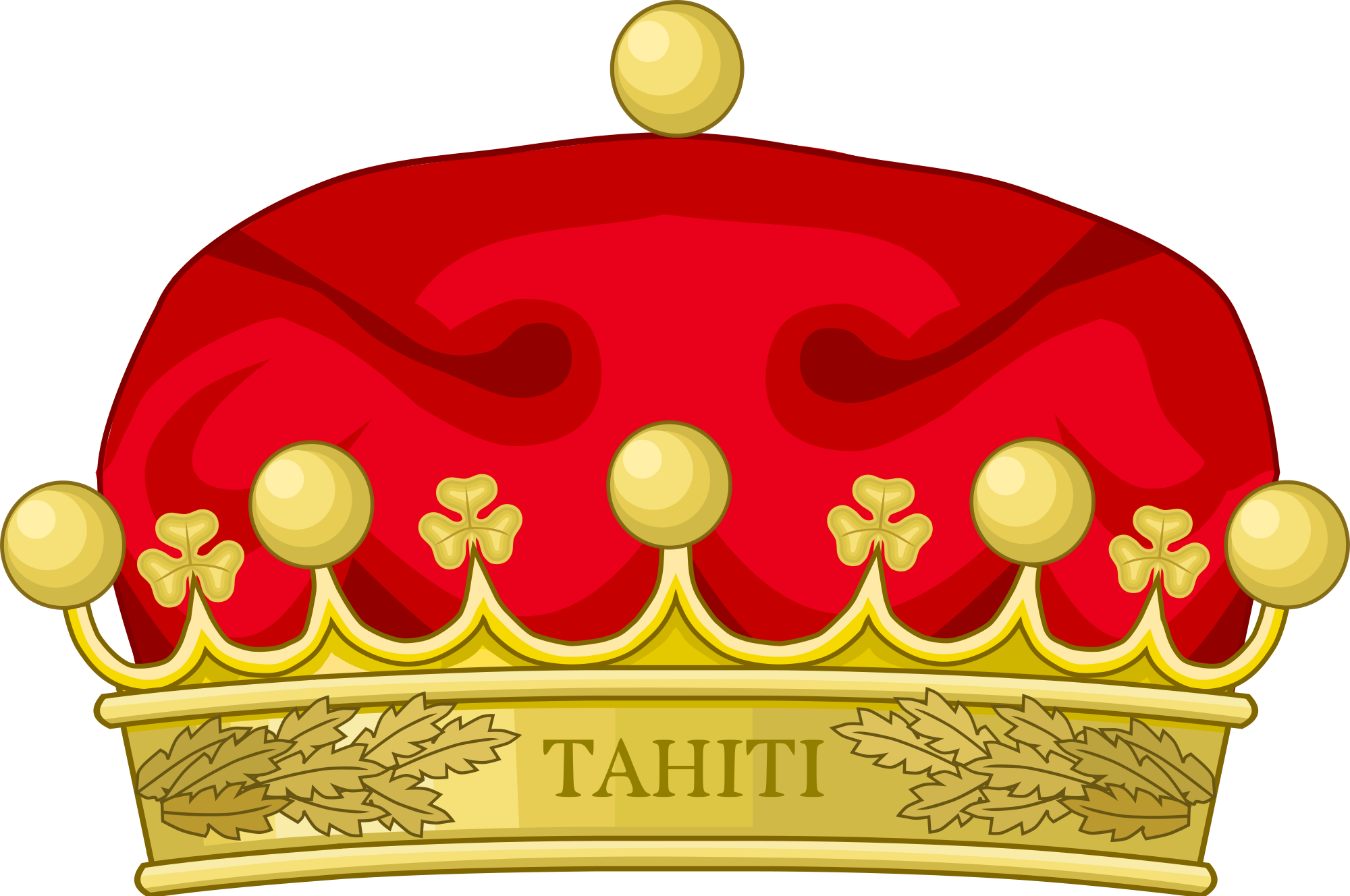 Crown clip london. File of tahiti svg