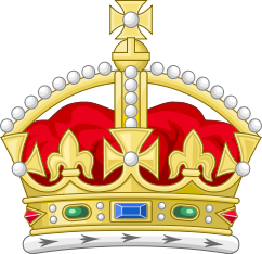 Crown clip old english. The british jewels jeremy