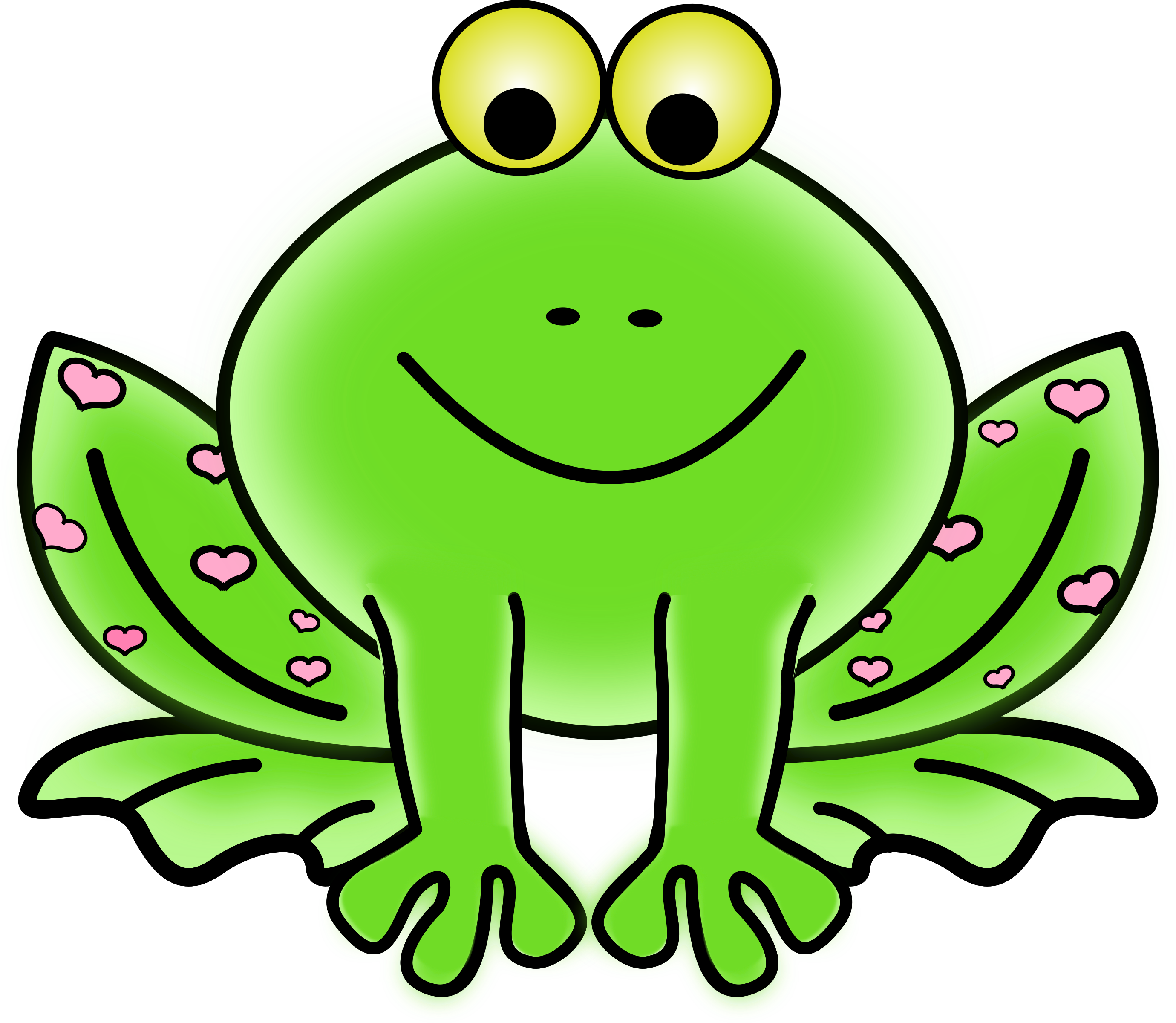 Crown clipart frog. Green valentine with pink