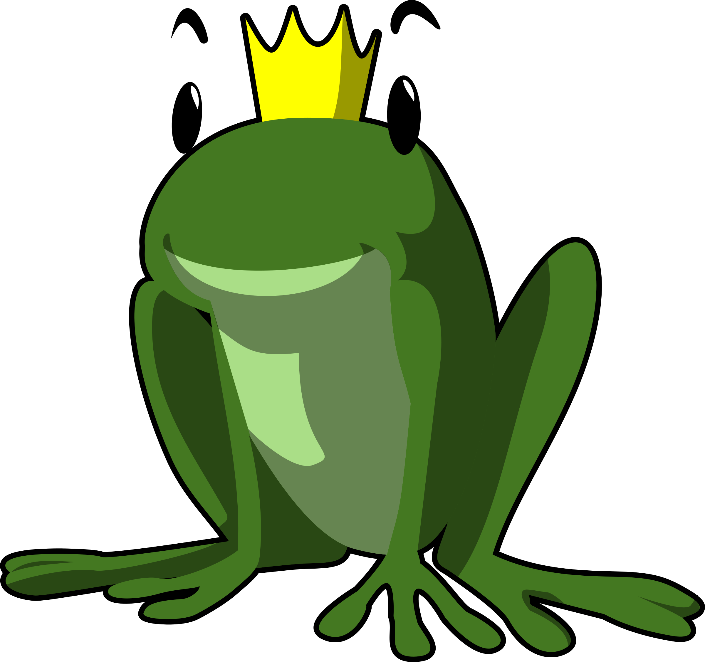 Crown clipart frog. Prince big image png