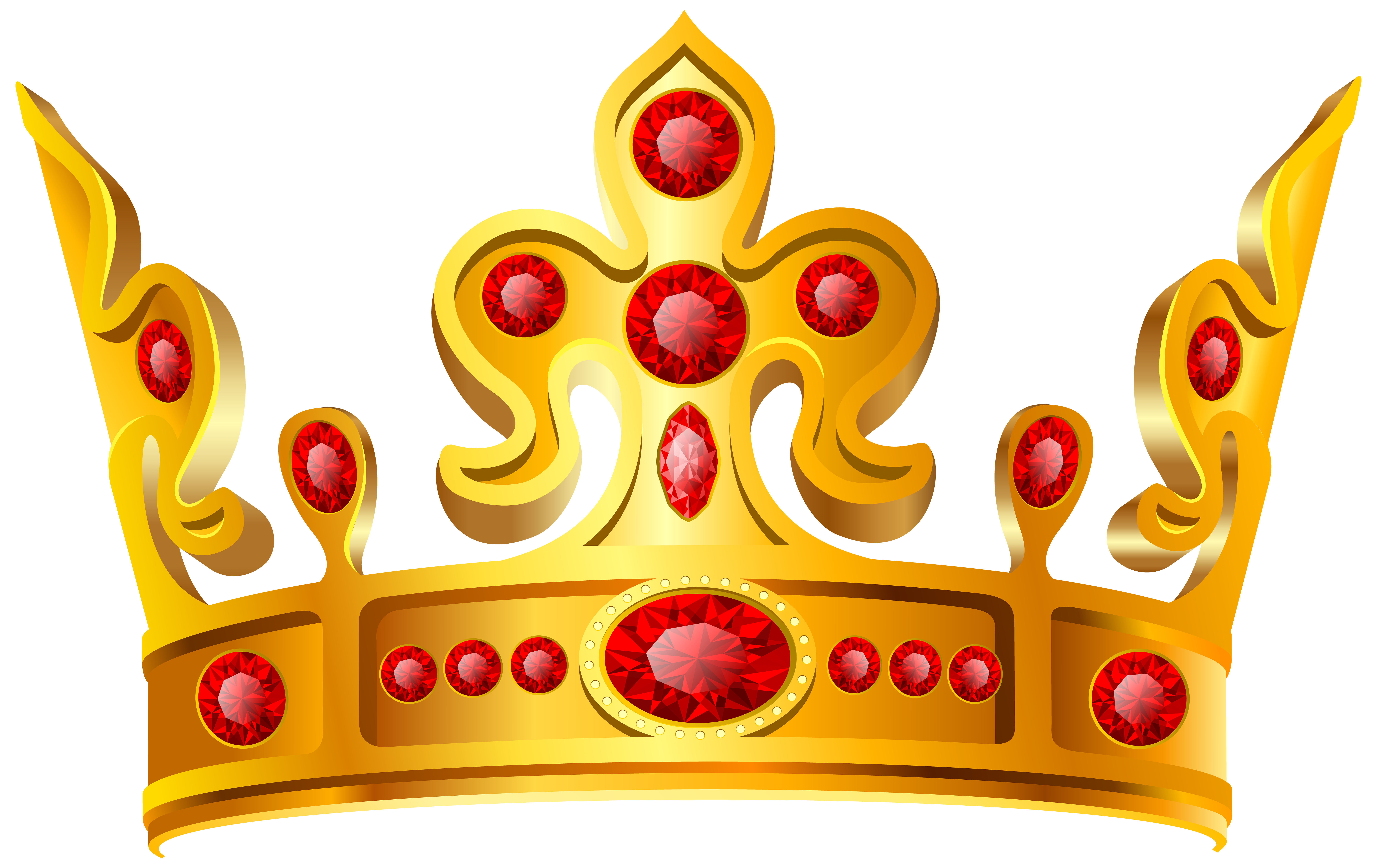 Crown clipart png. Gold red transparent clip