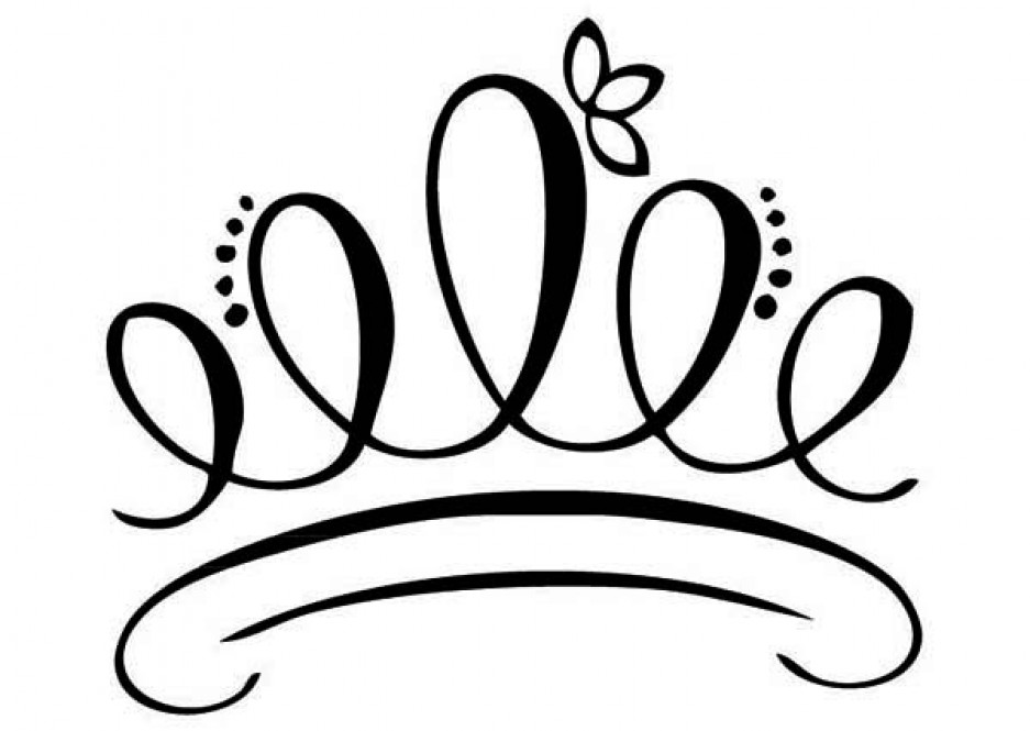 Crown clipart princess crown. Silhouette at getdrawings com