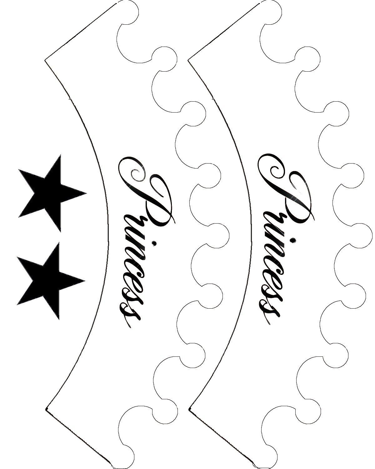 Princess template best fiestas. Crown clipart printable image black and white library