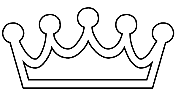 Template princess best yw. Crown clipart printable black and white download
