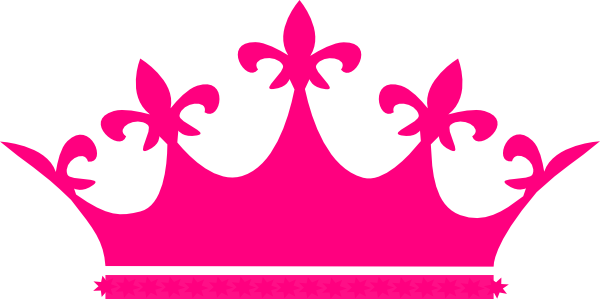 Crown clipart queen crown. Hot pink clip art