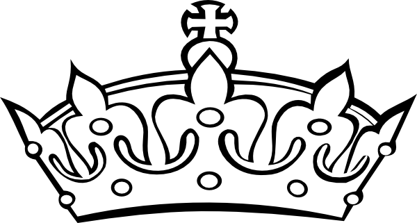 Crown clipart sketch. Princess black and white