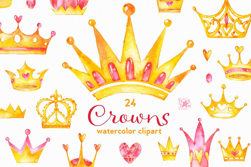 crown clipart watercolor