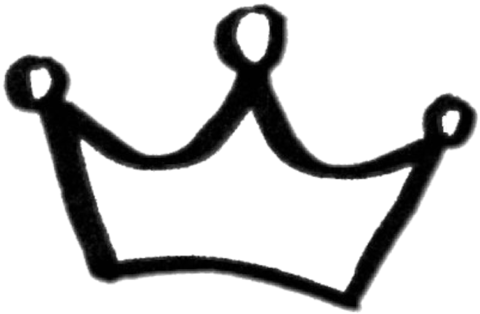 Sticker transparent crown. Doodle ftestickers by asiangirl