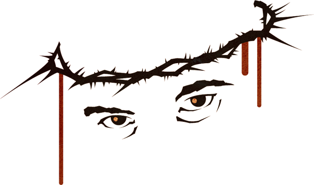 crown of thorns cartoon png