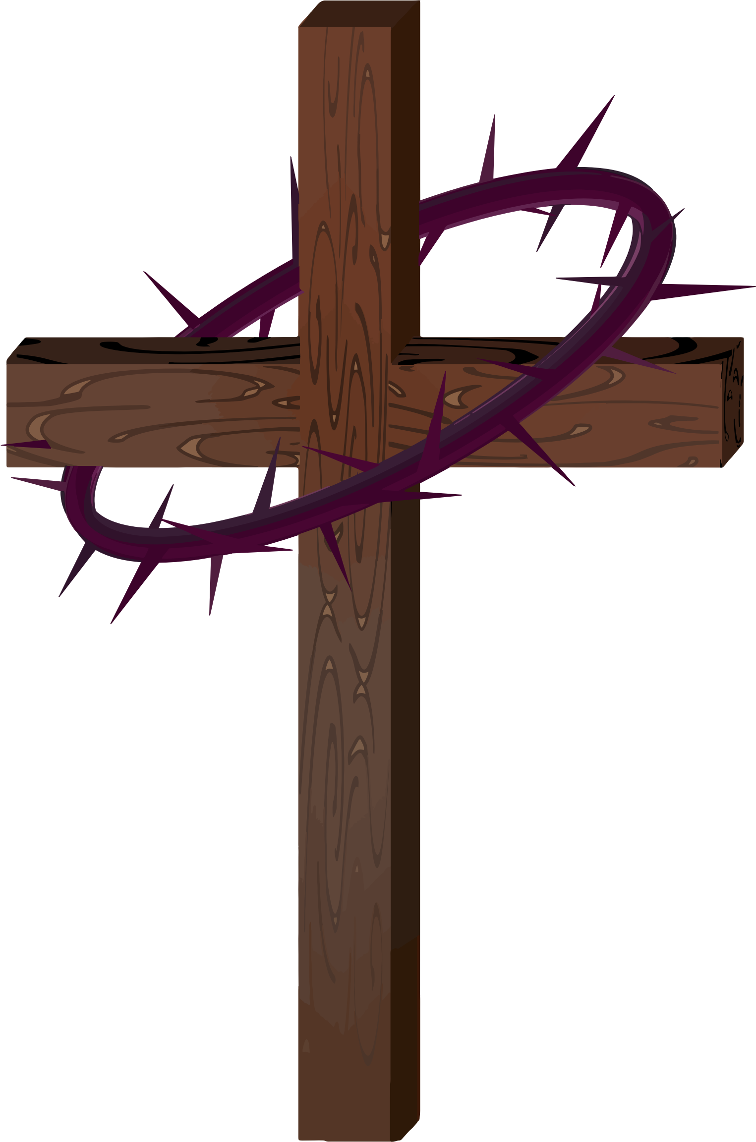 Crown of thorns on cross png. Clipart with big image
