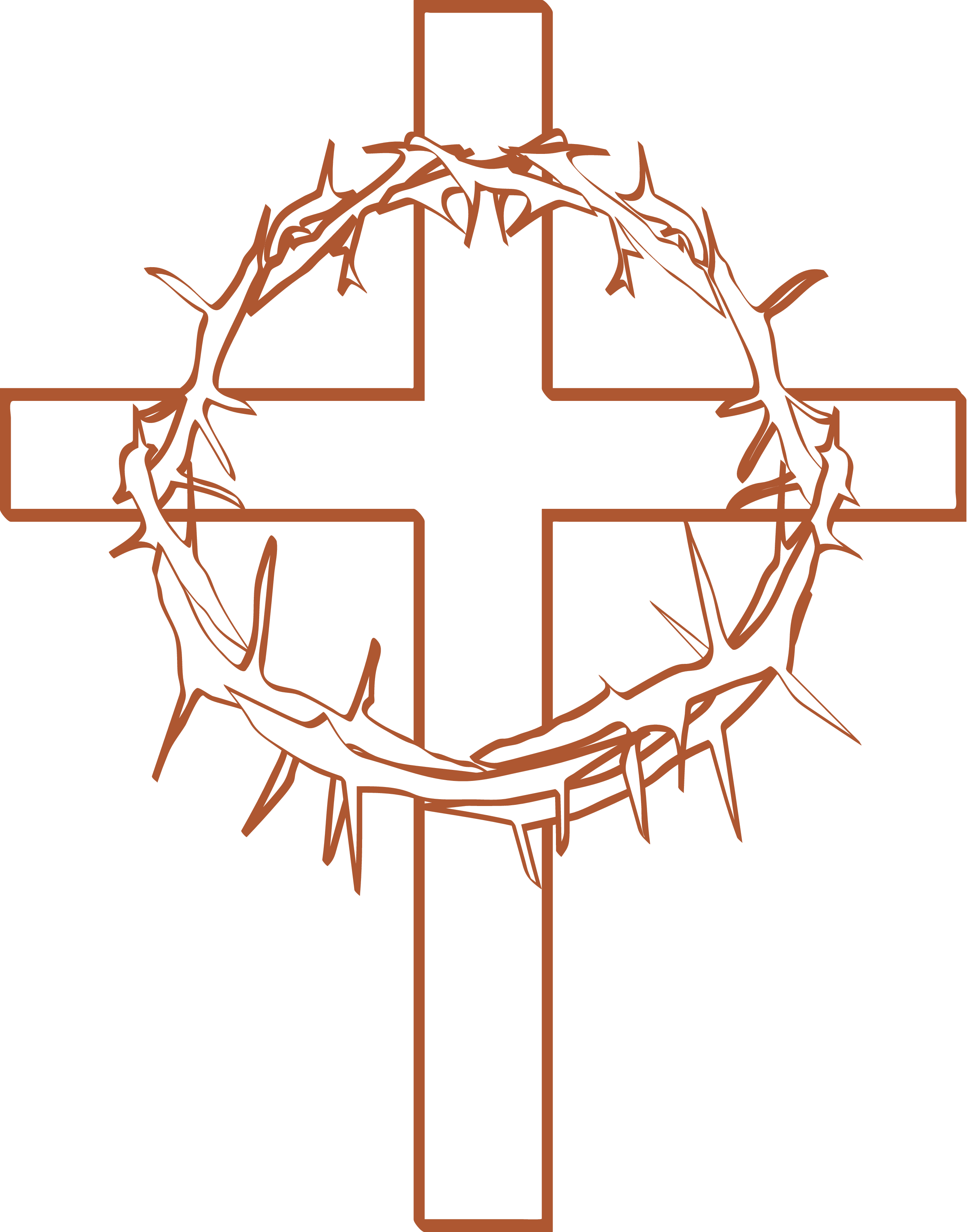 Crown of thorns on cross png. With clipart clip art