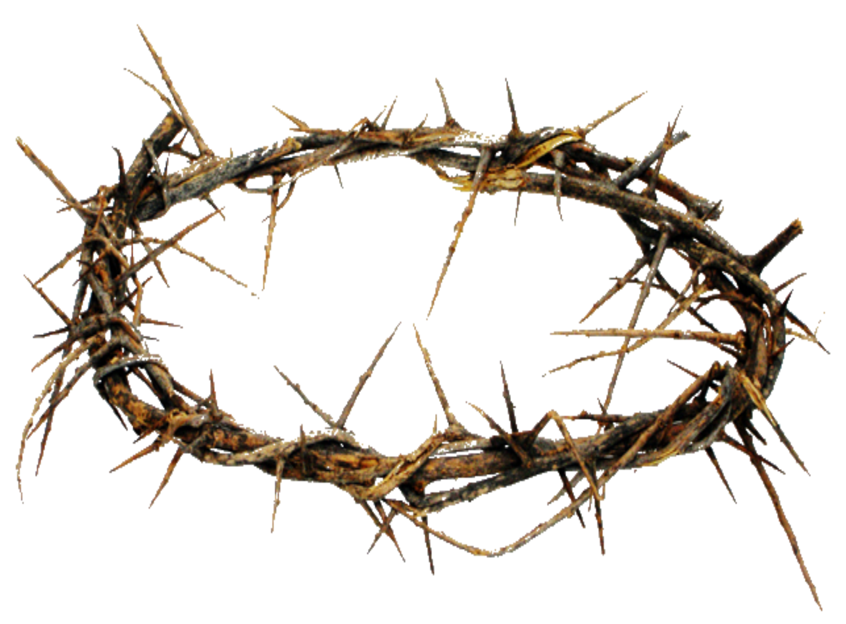 Crown of thorns and cross png