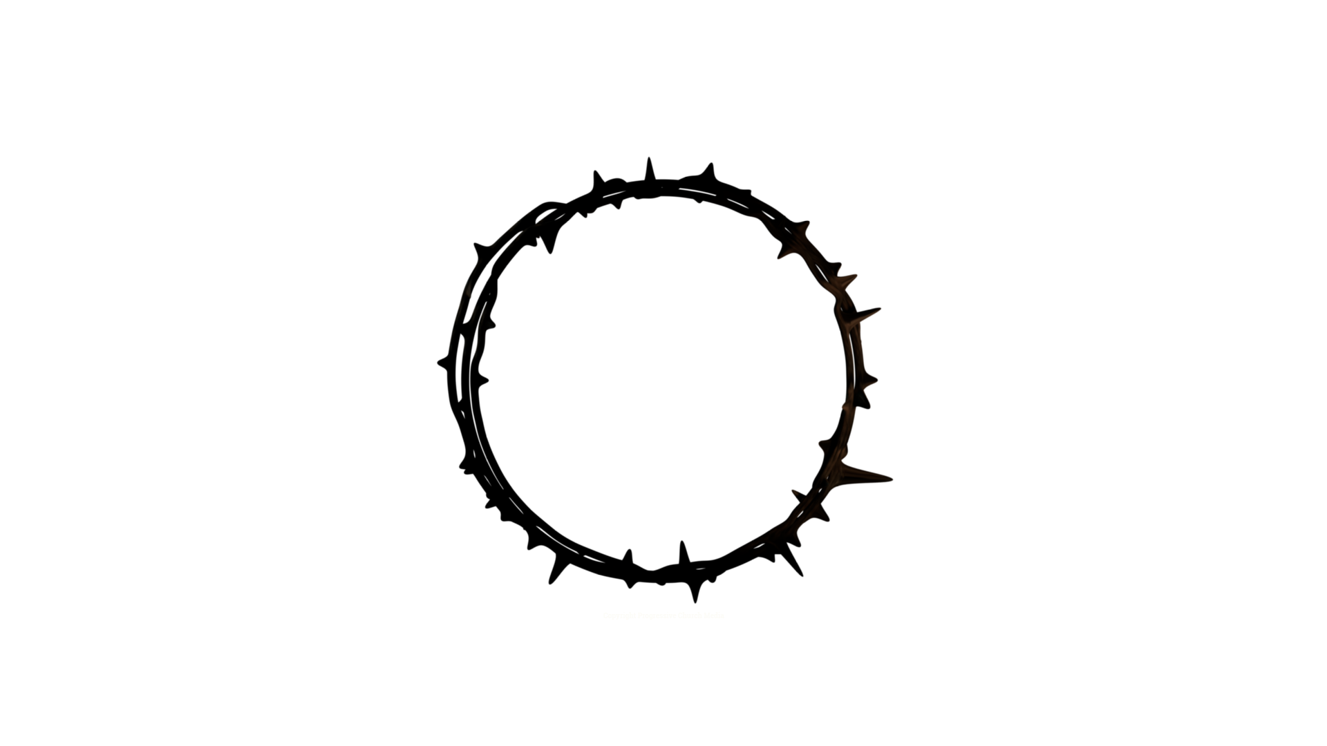 Crown of thorns transparent background png. Good friday graphics progressive