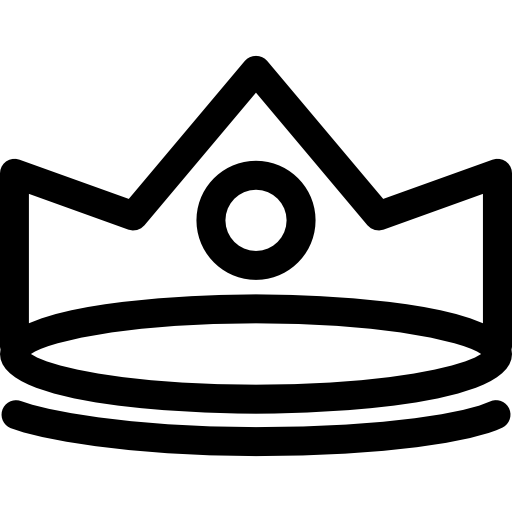 Crown outline png. Royal with circle at