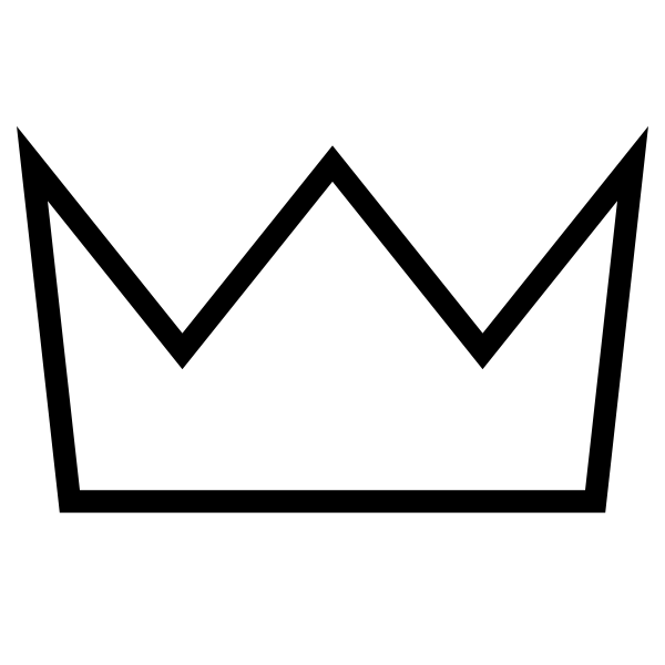 Crown outline png. White clip art at