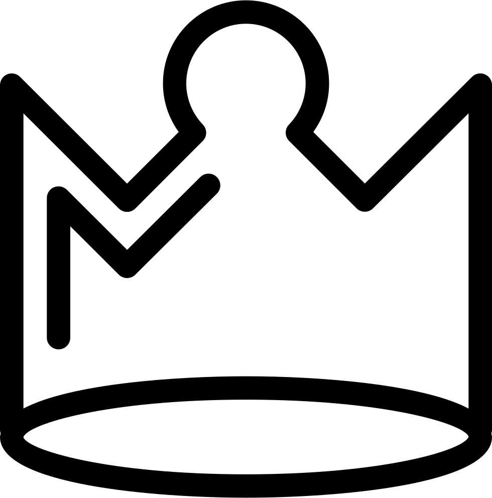 Crown outline png. Royal svg icon free