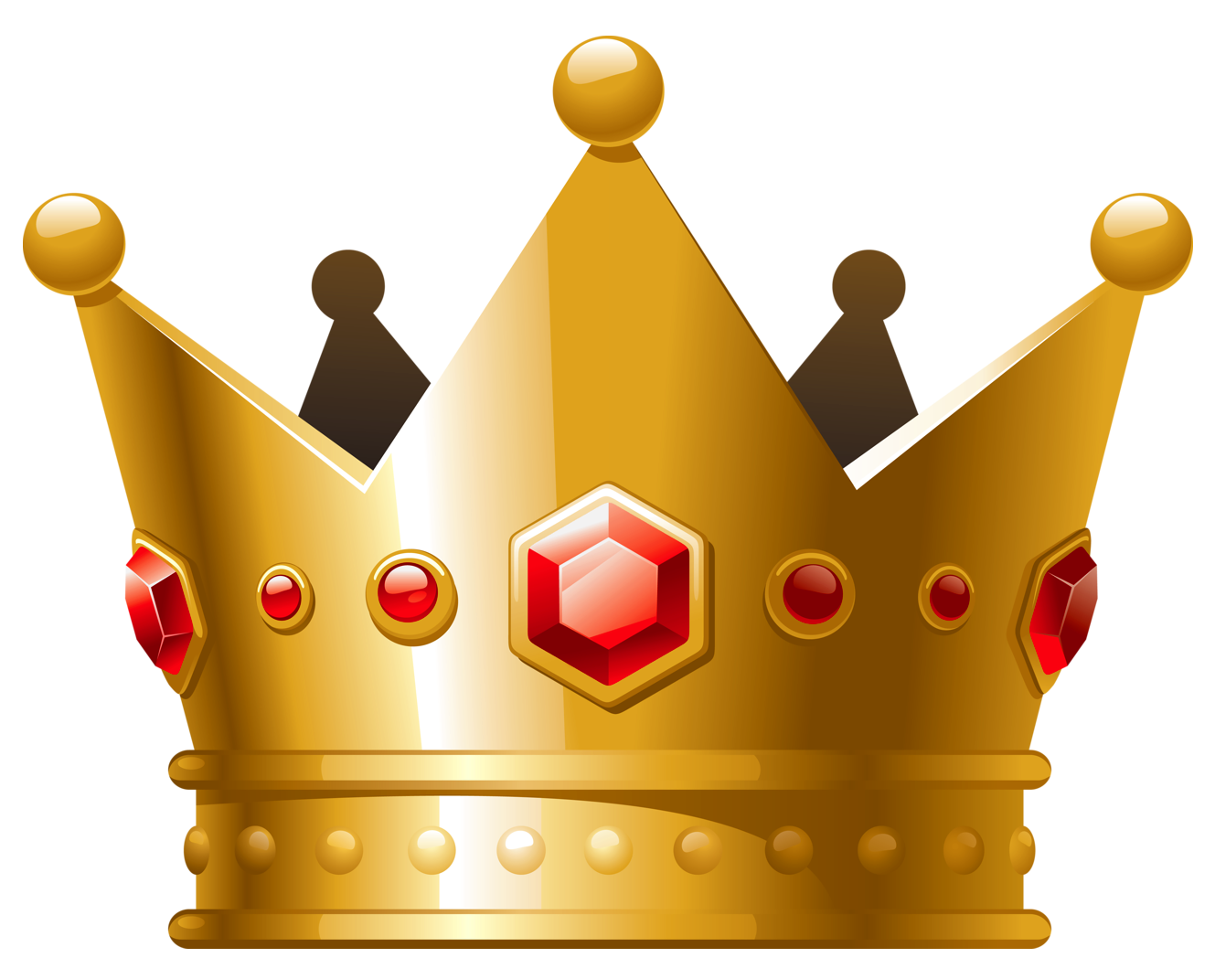 Crown .png. Gold with red diamonds