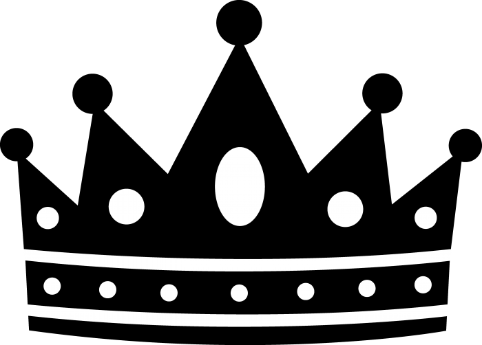 Crown png black. King and white vector
